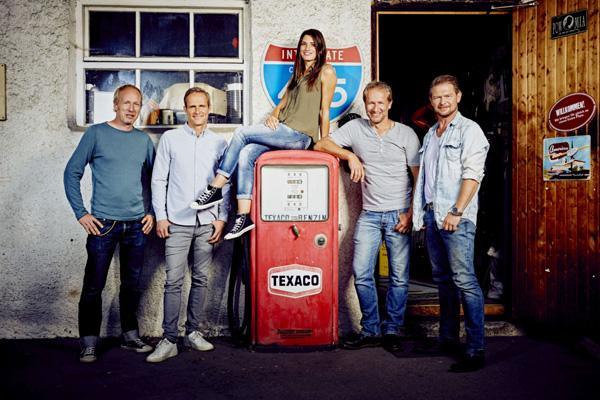 v.l.: Helge Thomsen, Matthias Malmedie, Cyndie Allemann, Niki Schelle, Det Müller ©RTL II