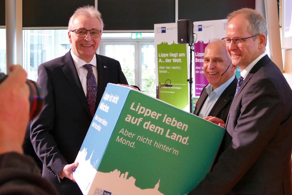 Werner Tiki Küstenmacher zu Gast in der IHK Lippe