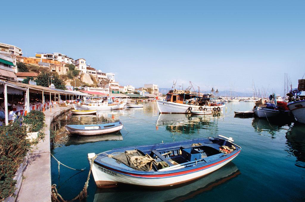 Boats in Piraeus Harbor, Piraeus, Greece