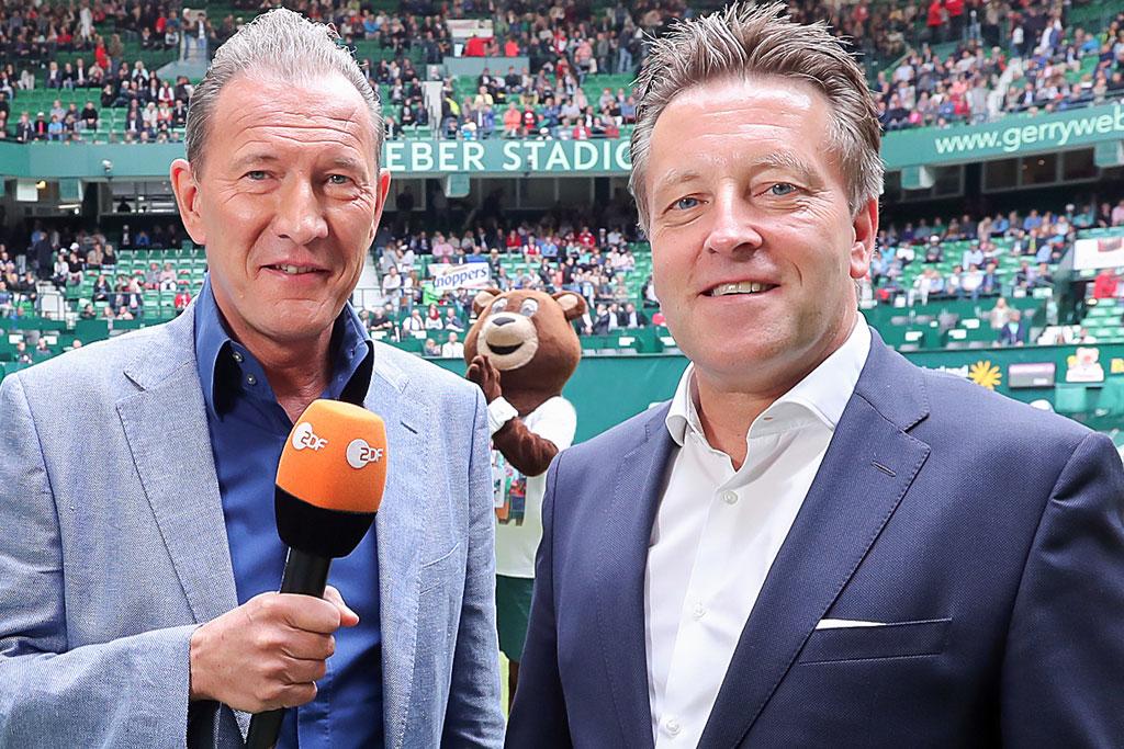 ZDF-Moderator Dr. Norbert Lehmann (links) mit Turnierdirektor Ralf Weber